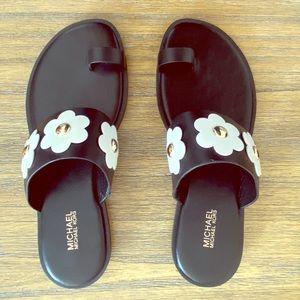 Michael Kors Floral Flat Sandals
